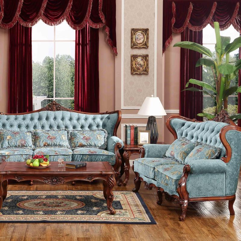雅居格家具 美式田园沙发地中海风格欧式高档布艺沙组合hs101-1图片