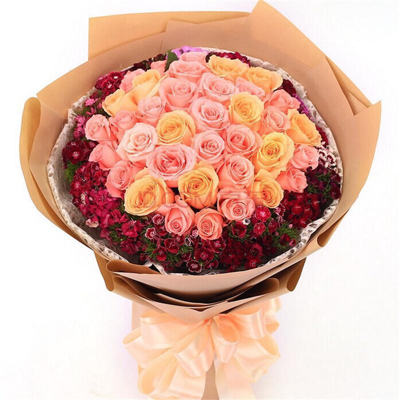 花束包装图片_蓝色妖姬花束图片_鲜花花束图片大全图片