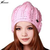 deniso帽子冬帽女士女款手工编织帽兔毛编织帽