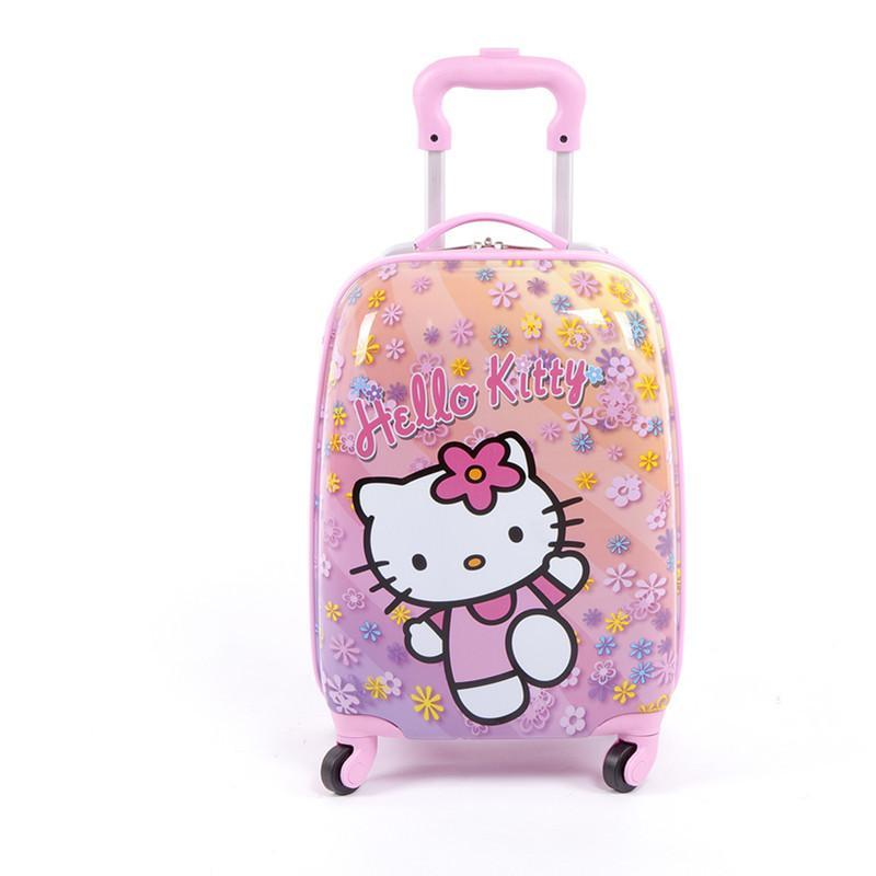 儿童拉杆箱旅行箱可爱卡通背包书包蜜蜂背包瓢虫子母行李箱女 大象 16