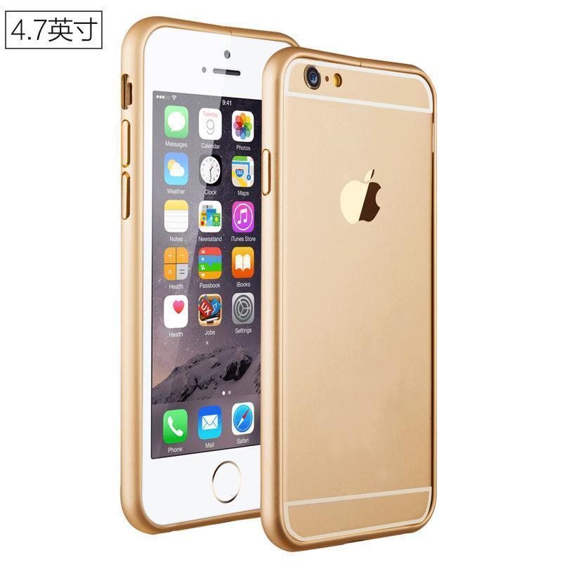 iphone6手机壳 苹果6plus金属边框手机保护套海马扣