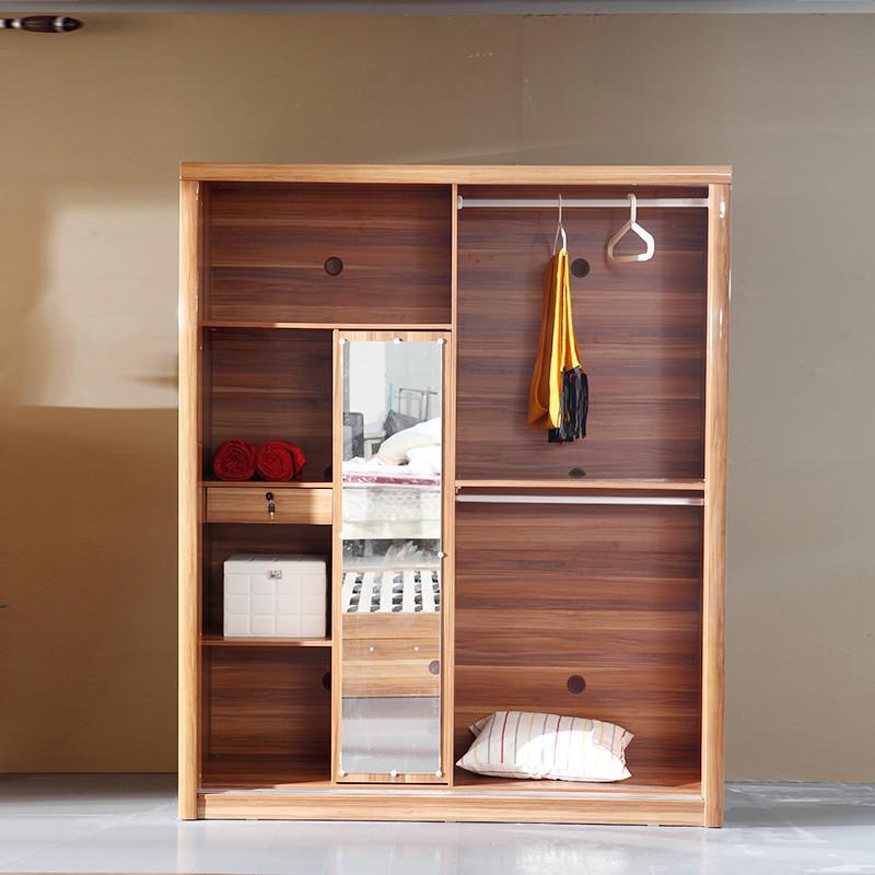 双虎家私 推拉门衣柜 现代中式移门大衣橱/整体柜 烤漆板式家具h1 2门