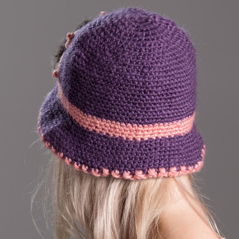 2014新冬季帽子女 中老年女士帽子兔毛线帽妈妈帽针织图片