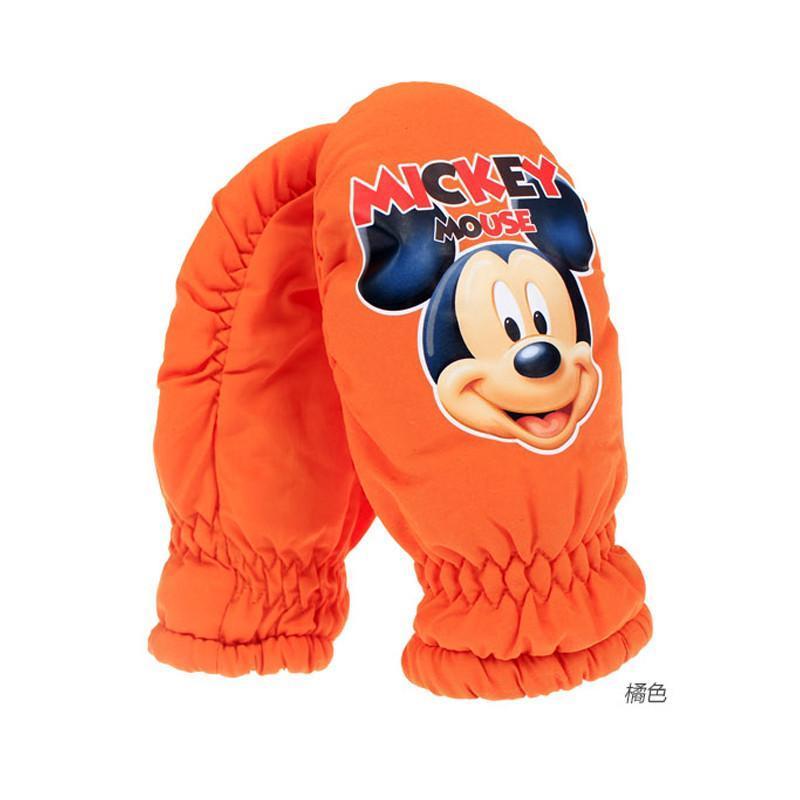 儿童手套冬男童女童 正品迪士尼卡通可爱滑雪防风手套宝宝手套 罗口