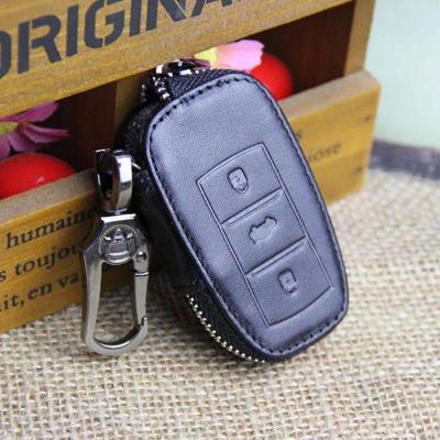 驭龙真皮汽车钥匙包 长安cs75瑞驰智能三键钥匙专用