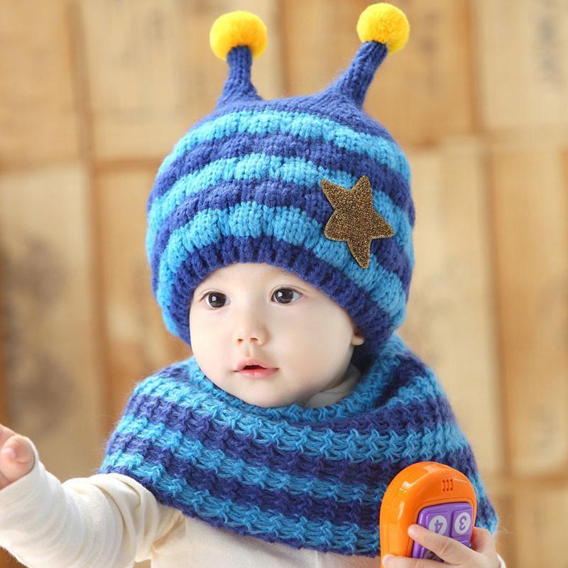 冬季保暖帽围巾可爱宝宝