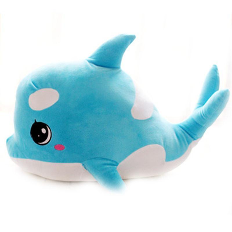 萌宠可爱大眼睛情侣海豚公仔鲸鱼毛绒玩具布娃娃儿童抱枕礼品批发 浅