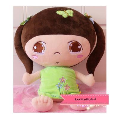 新款毛绒玩具邻家小女孩公仔 可爱卡通布娃娃 儿童玩具 孩子礼物p