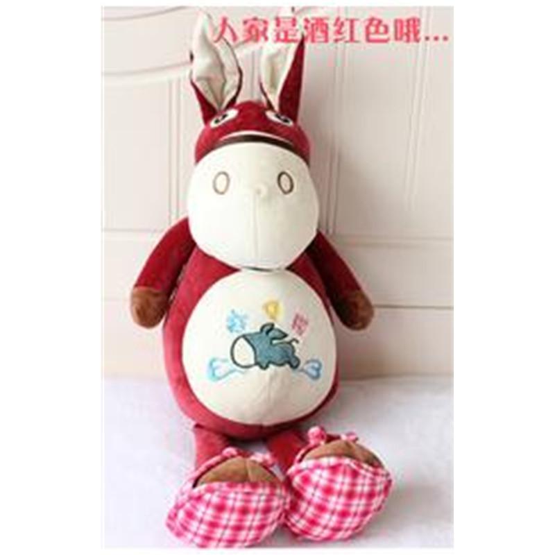 可爱卡通小毛驴毛绒玩具公仔创意赶集驴布娃娃抱枕生日礼物p 绿色70厘