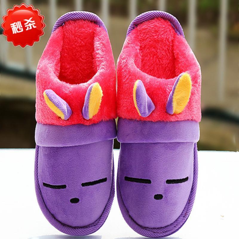 锦尚花 秋冬新款少年儿童小孩棉拖鞋男童女童男孩女孩学生居家可爱棉