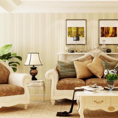 旗航壁纸 简约欧式条纹 云3d立体无纺布墙纸 客厅卧室