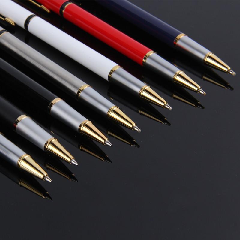萨搏4577高档办公签字笔书写文具学生中性笔七彩金属黑色商务水性笔