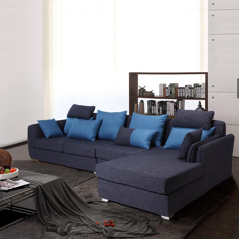 现代简约实木客厅布艺沙发组合可拆洗沙发s