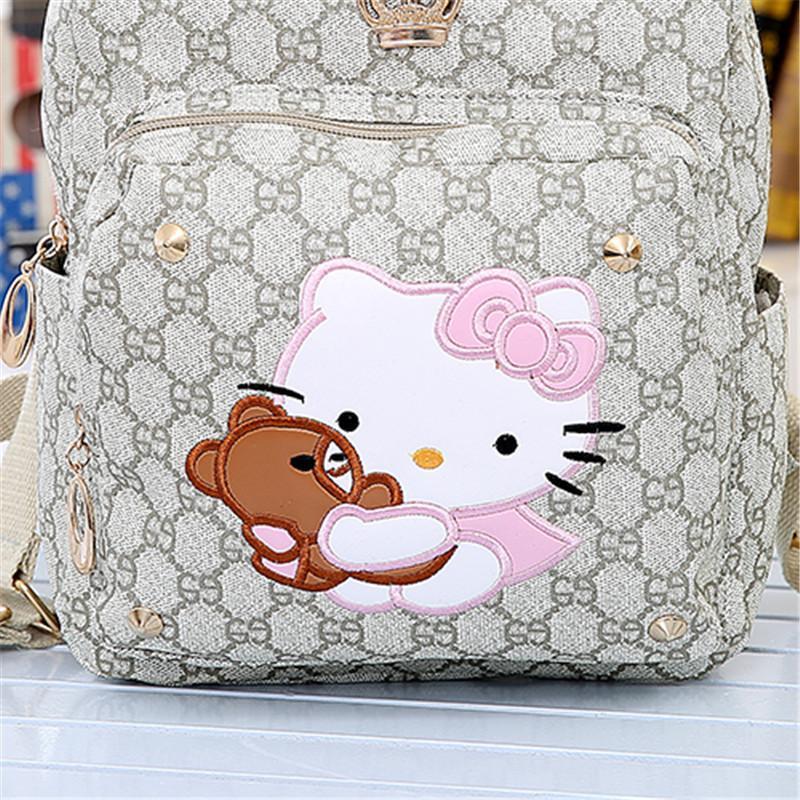 咔米嗒可爱宝宝书包 儿童幼儿园书包 韩版女童书包大班中班书包 猫咪