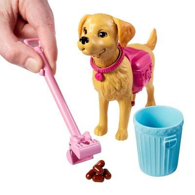 新品barbie/芭比娃娃女孩玩具套装礼盒之贪吃狗狗bd