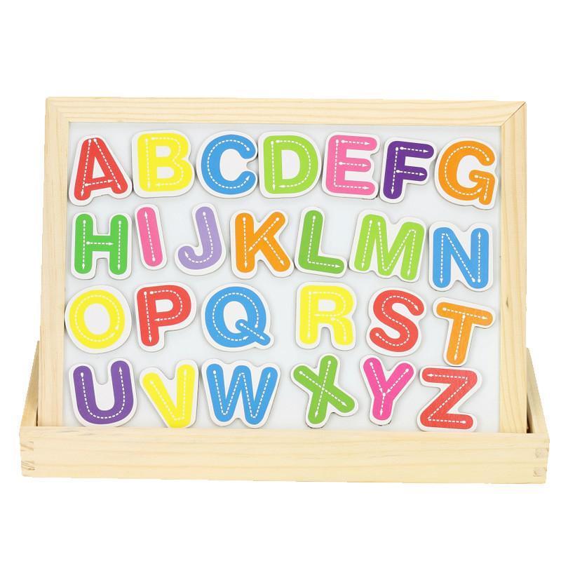 儿童益智早教玩具幼儿智力森林动物数字符号拼音字母奇妙画板磁性拼拼