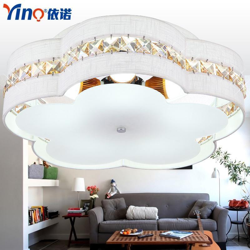 客厅灯现代简约吸顶灯具欧式圆形大气水晶灯led卧室