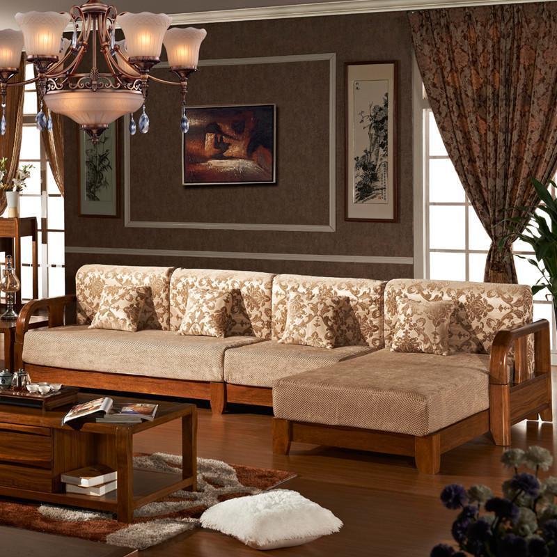 布达斯现代中式家具 实木沙发