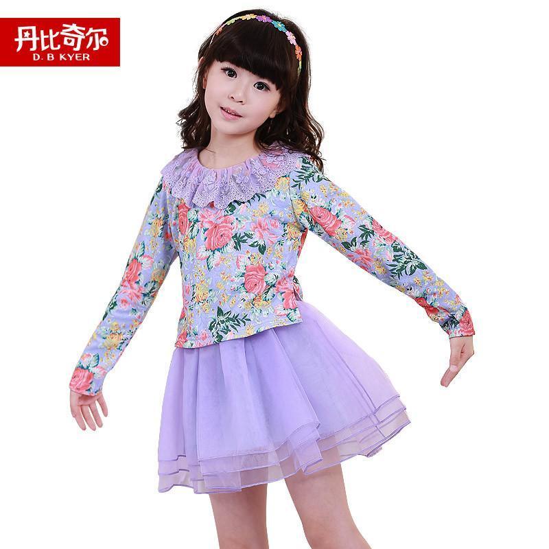 童装2015秋装新款女童裙子儿童连衣裙宝宝长袖韩版裙