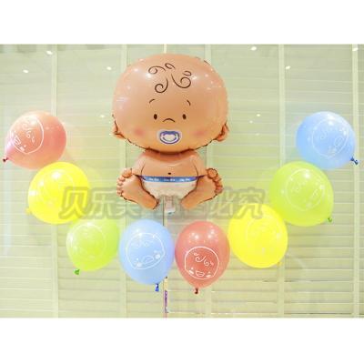 气球 汽球 大头娃娃气球铝膜 生日装饰 生日派对铝箔气球造型布置 男