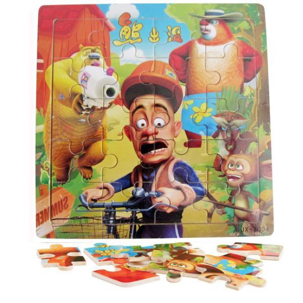 木有人 益智玩具 经典流行动画片 20片儿童木质拼图 熊出没之森林保卫图片