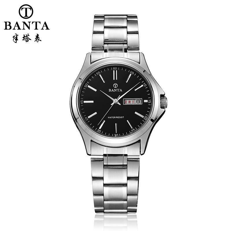 男表时尚钢表带手表