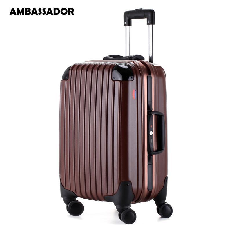 拉杆箱欧洲标准登机箱铝框男女行李箱包德国进口100%纯pc万向飞机轮