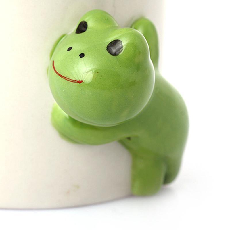 homee 日式纯手绘高品质躲猫猫动物陶瓷杯子 粉红猪猪
