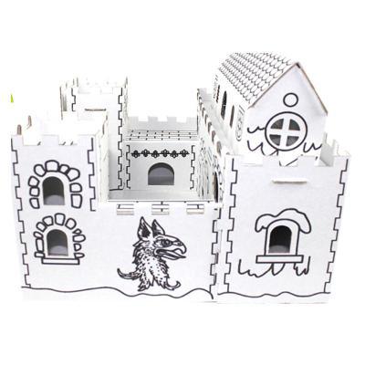 纸制城堡步骤和图片