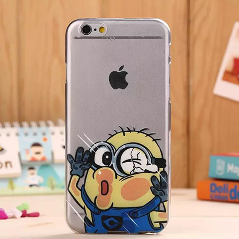 pandaoo 新款超薄tpu撞玻璃贴脸透明 卡通 海贼王iphone6手机壳4.7/5.