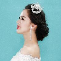 水舞舞台水钻韩式新娘v舞台皇冠和服造型头饰走穿头型的王冠图片