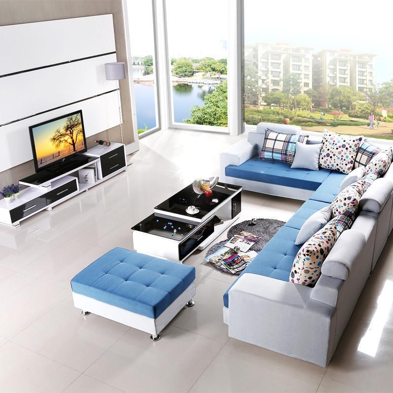 禾辰客廳家具組合套裝 電視柜茶幾沙發組合