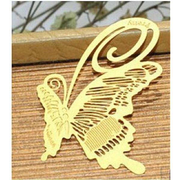 韩国金属创意书签 四叶草◆蝴蝶◆银杏叶◆等(随机发)