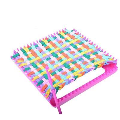 儿童手工织布机diy布艺编织机制作杯垫手袋女童女孩玩具新年礼物