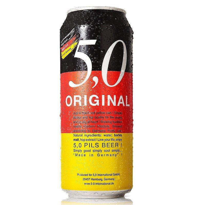 德国原装进口啤酒 5.0皮尔森啤酒 500ml*6