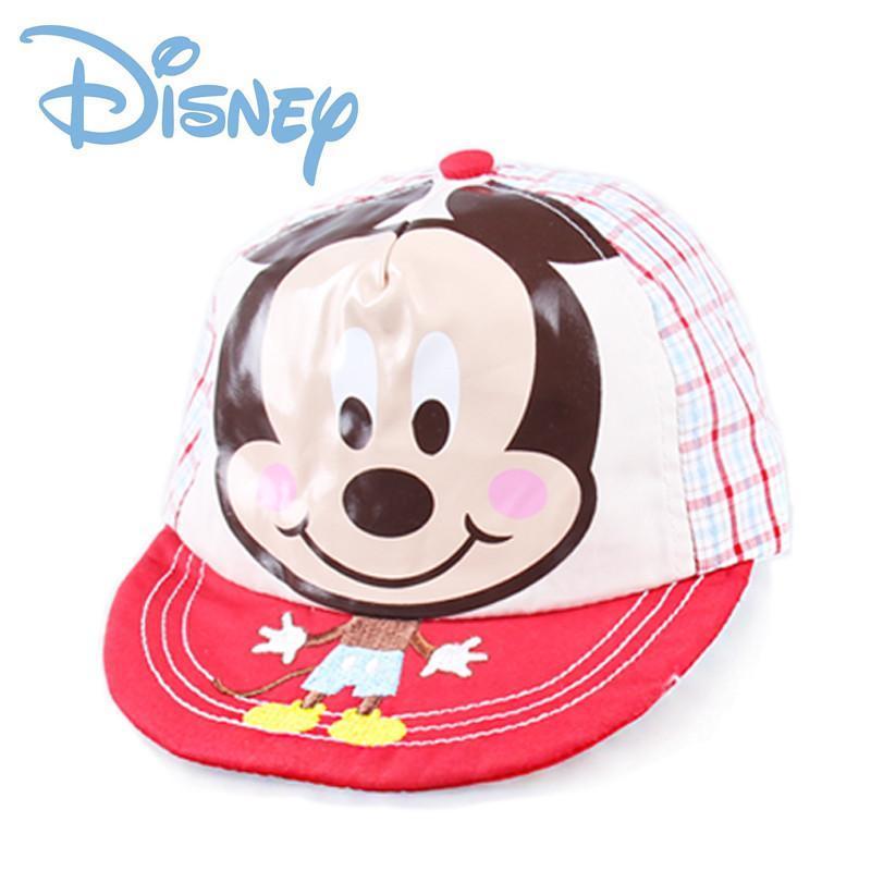 迪士尼儿童帽子春秋女童帽子 宝宝帽子纯棉时尚小孩遮阳帽 mc0444红色