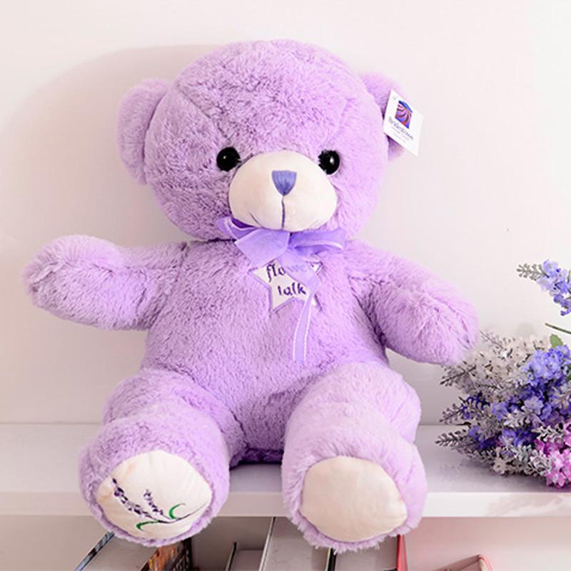新款大号可爱卡通紫色薰衣草小熊抱抱熊泰迪熊毛绒玩具公仔玩偶布娃娃