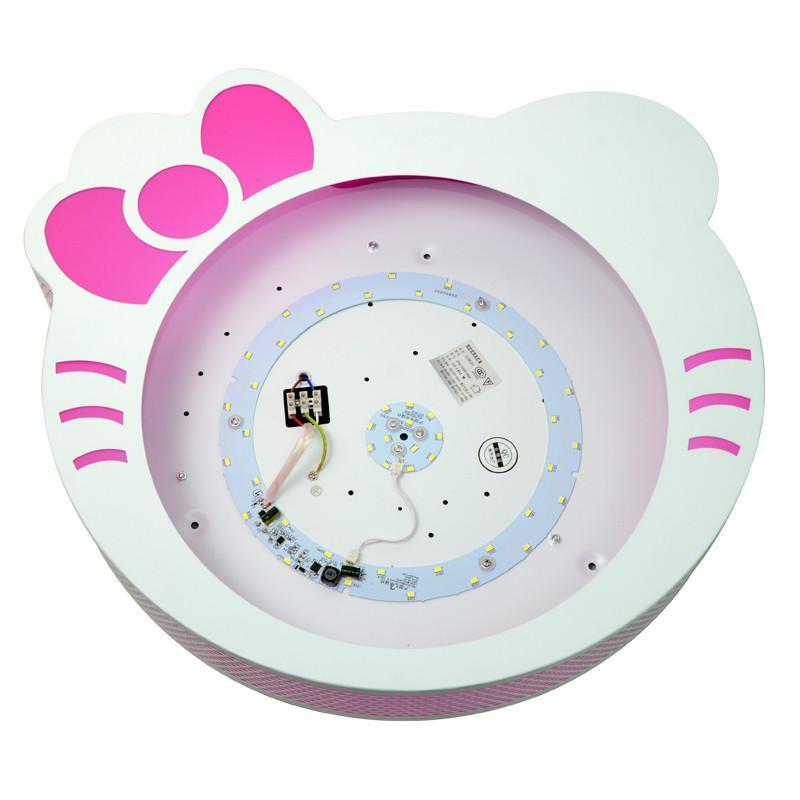 祺家儿童房 现代简约吸顶灯具可爱卡通猫咪儿童卧室用灯具灯饰kx08