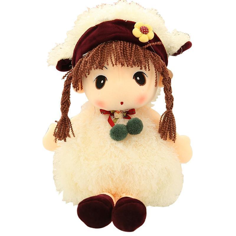 安吉宝贝可爱菲儿布娃娃毛绒玩具公仔 白羊菲儿 45cm