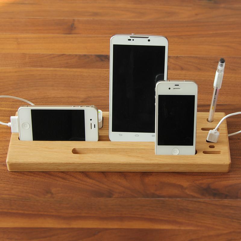 钰涵居hg白橡木实木架子手机支架多功能桌面架iphone