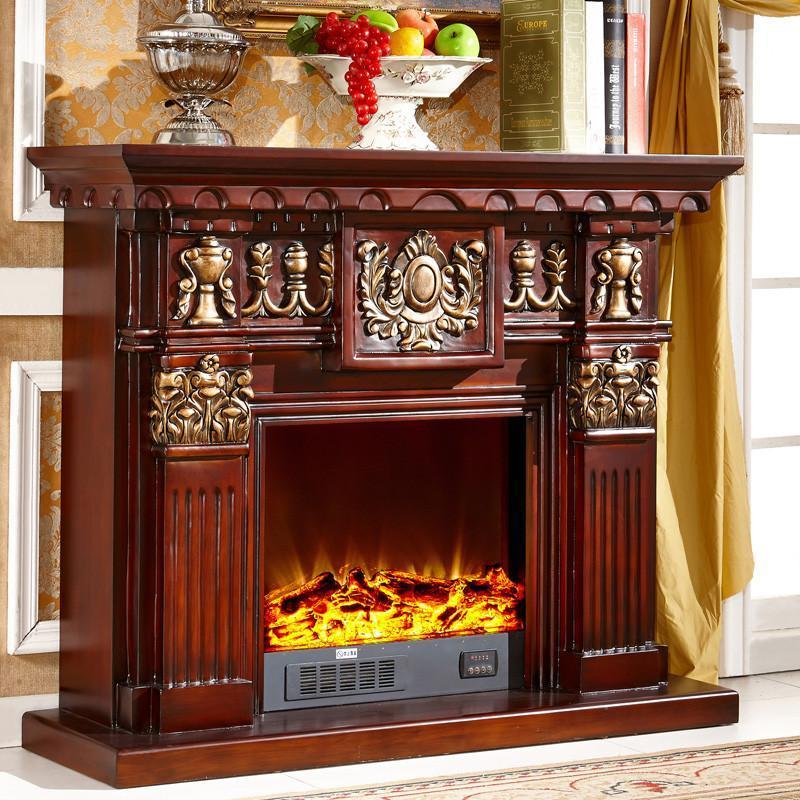 45米欧式装饰柜 实木壁炉架