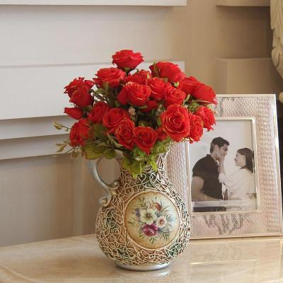 玫瑰欧式家居摆设花艺知