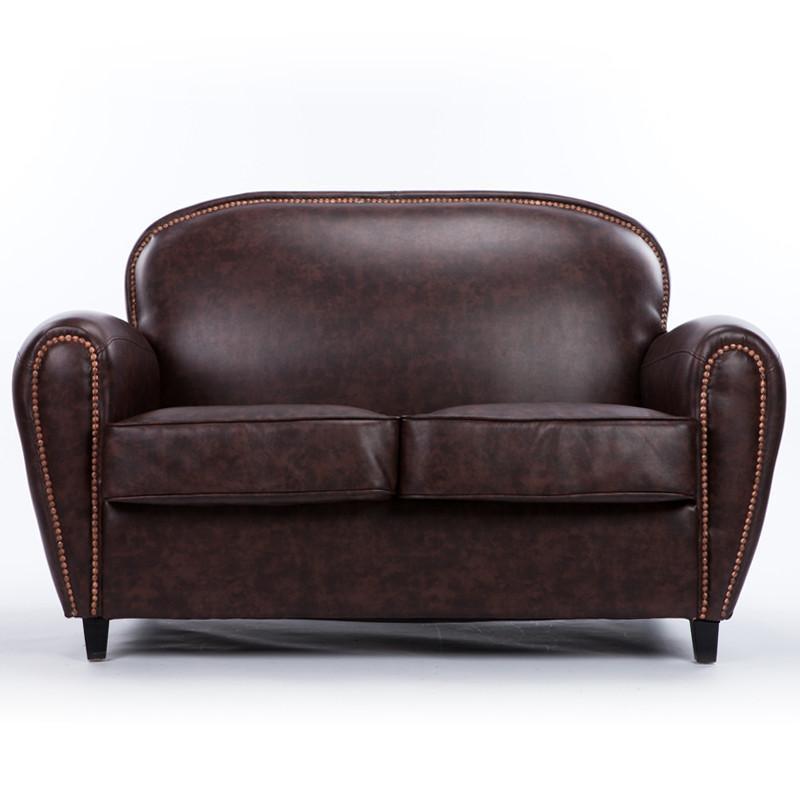 欧式复古单人沙发时尚咖啡厅沙发小