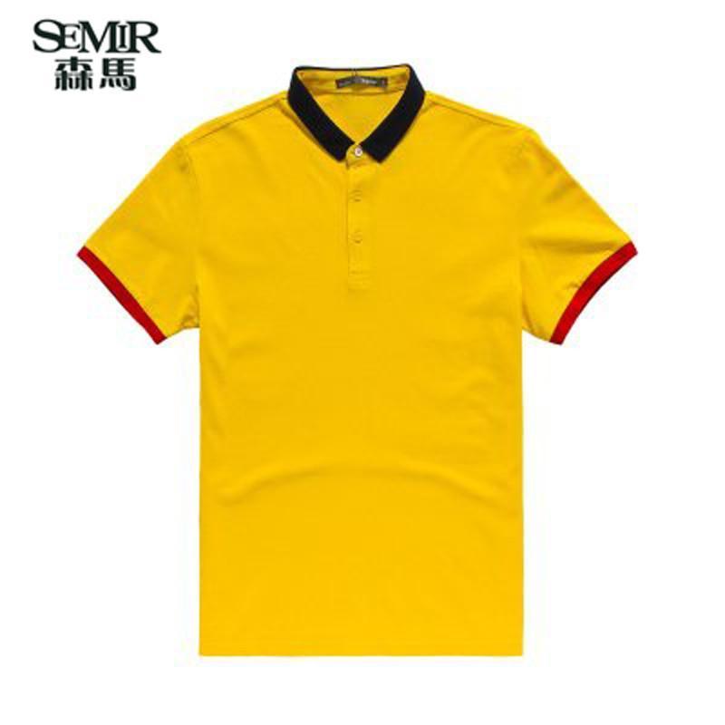 森马2015夏装新款短袖t恤 男士韩版休闲拼接polo衫上衣男装专柜款图片