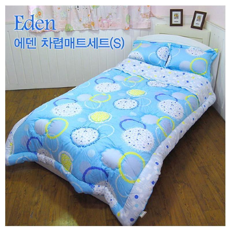 i]神秘伊甸园圆形花纹装饰被子床罩枕套三件套 蓝色 1.0m床