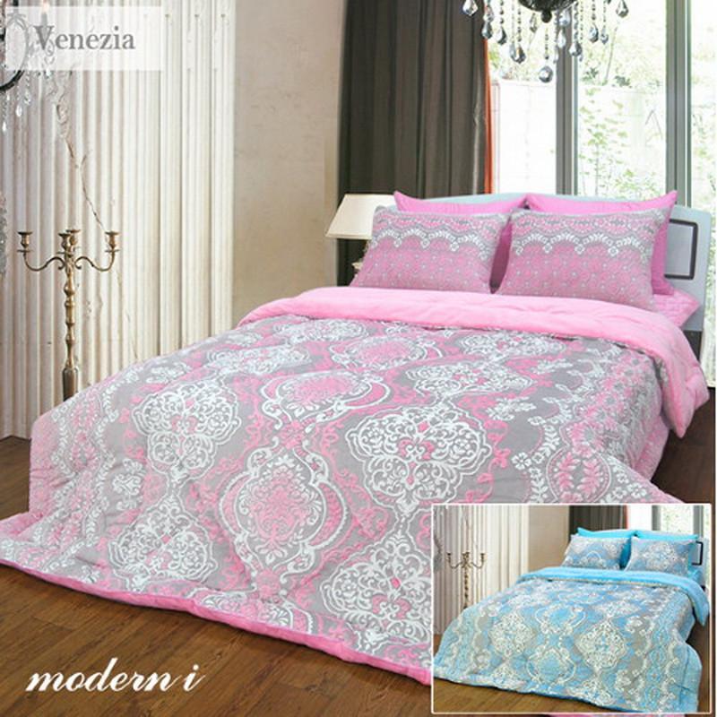 i]威尼斯经典花纹样式被子床盖枕套四件套