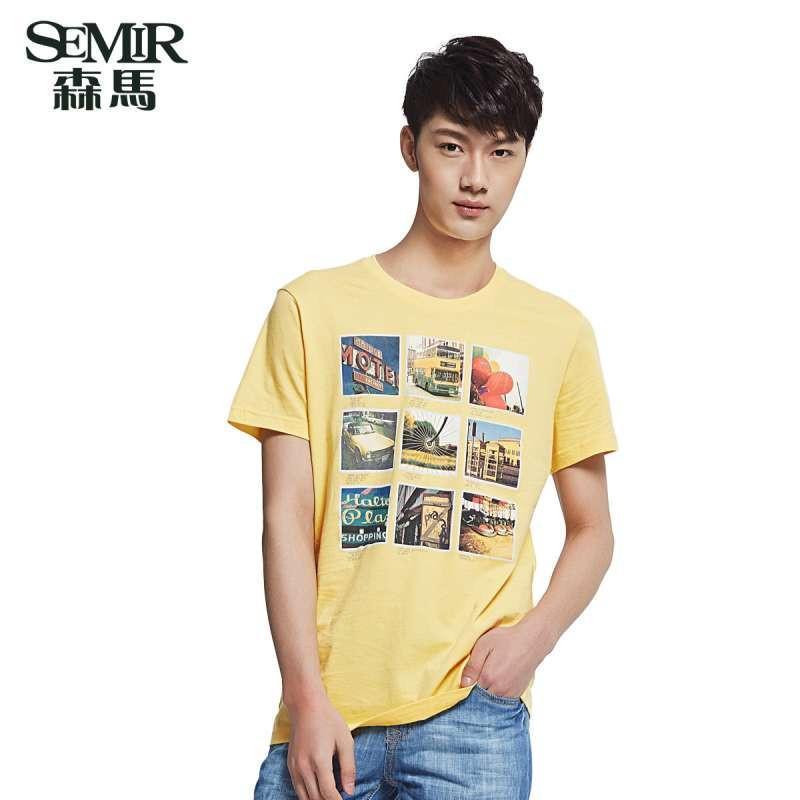 【森马(semir)男士t恤】森马男装夏装新款短袖t恤衫图片