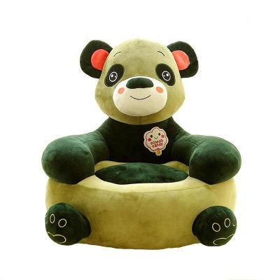 可爱卡通懒人沙发小狗猴子青蛙幼儿居家毛绒玩具 创意儿童节礼物 绿色