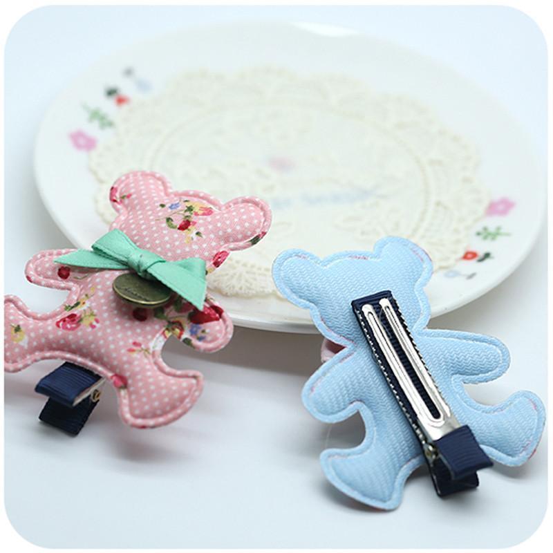 咔米嗒新款可爱公主发夹儿童碎花布艺发夹韩版女孩布艺发卡发夹 碎花
