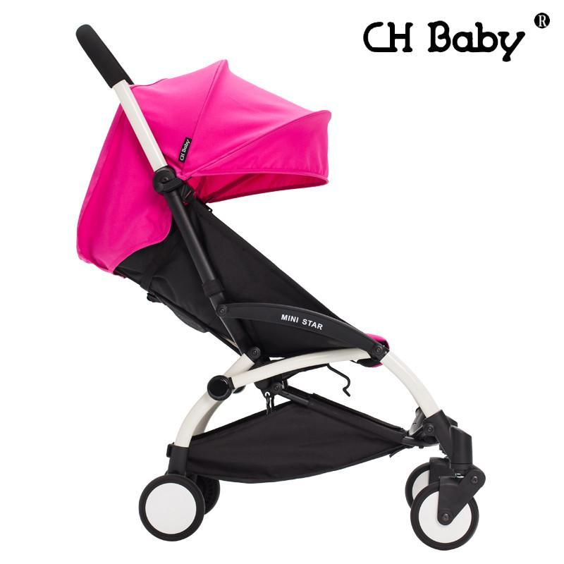 chbaby轻便可上飞机婴儿车婴儿推车伞车运动版 玫红